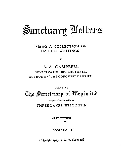 Sanctuary of Wegimind - Title Page